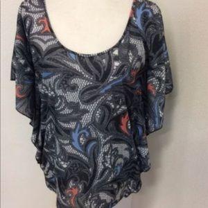 Kardashian Kollection butterfly blouse.